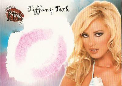 """Benchwarmer 2007 Series 1 - 15 of 16 """"Tiffany Toth"""" Gold Foil Kiss Card"""
