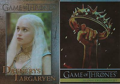 Game of Thrones Season 2 - 88 Card Parallel Foil Set
