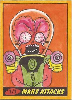 Mars Attacks Heritage - Jeremy R Scott Sketch Card