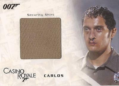 """James Bond In Motion - SC05 """"Carlos' Security Shirt"""" Costume Card #700/800"""