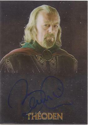 "Lord of the Rings Trilogy - Bernard Hill ""Theoden"" Autograph Card"