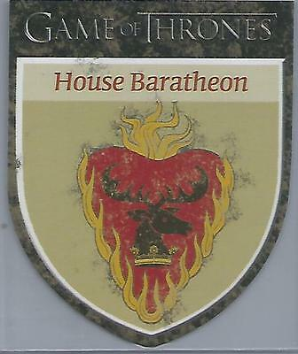 "Game of Thrones Season 5 - H11 ""House Baratheon"" Shield Case Topper Card"