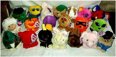 """""""NEW w/ TAGS"""" PUFFKINS  LOT of 20 STUFFED ANIMALS MOST RETIRED! ALL DIFFERENT!"""