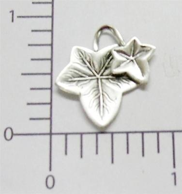 32624          2  Pc Matte Silver Oxidized Victorian Ivy Leaves Jewelry Finding