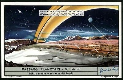 The Planet Saturn Saturno c60Y/O Astronomy Card