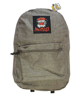 """New Mac Miller Gray """"Delusional Thomas"""" Large 18"""" Collegiate Backpack $69.99"""