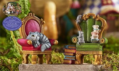Mini World Cat Mouse in Armchair Figurines Alice in Wonderland Miniatures New