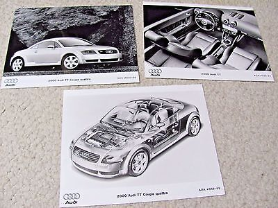 2000 Audi Tt Quattro Press Photos (3 Different) !!