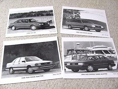 1988 Audi  Press Photos (4 Different) !!