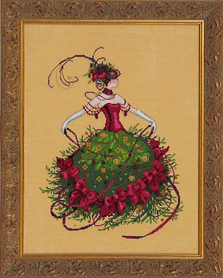 10% Off NEW Nora Corbett/Mirabilia Counted X-stitch Chart - Miss Christmas Eve