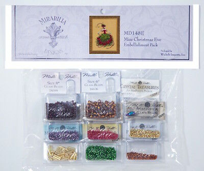 10% Off NEW Bead Pack for Nora Corbett/Mirabilia design Miss Christmas Eve