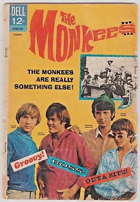 THE MONKEES # 1 DELL COMIC MARCH 1967 PHOTO COVER nice beat-up copy