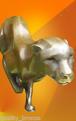 Stunning Sprinting Cheetah, Pure Bronze Statue Animal Figure Sculpture