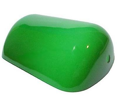 AS IS Bankers Lamp Shade Pharmacy Desk Table Light Green Cased Glass