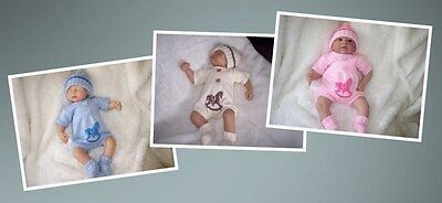 KNITTED HORSE ROMPER SUIT REBORN 20in BABY 0 - 3 MNTHS*