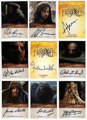 The Hobbit : Desolation of Smaug Card Master Set: Base Chase + 27 Autos + Sketch