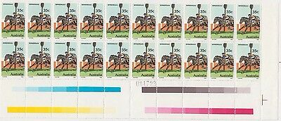 Stamps Australia 1978 Horse Racing 35c issue gutter block of 20 MUH sheet number