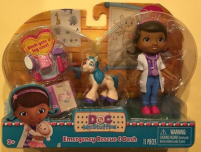 Disney Doc McStuffins Play Set Emergency Rescue and Dash New