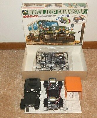 ROSHIMA Motorized WINCH JEEP CANVASTOP Model 1/20 (Made in Japan) ~ OFF-ROAD