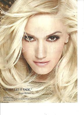 Gwen Stefani, Full Page Pinup Clipping Ad
