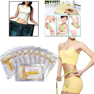 100PCS Slim Trim Patch Diet Slimming Weight Loss Detox Adhesive Pads Burn Fat uf