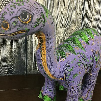 "Applause 1992 Dinosaur Giants Purple Plateosaurus Hard Plush- Large 25"" long!"