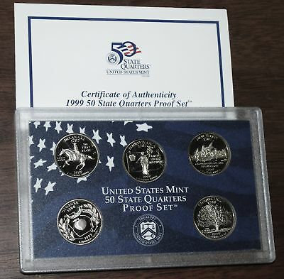 1999 U.S. Mint Made STATE QUARTERS Proof Set in original BLUE box