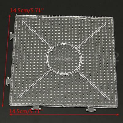 4/20X14.5CM Pegboards for Perler Bead Hama Fuse Beads.Clear Square Design Board