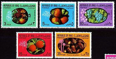 Irak Iraq 1970 ** Mi.623/27 Früchte Fruits Orange Grapefruit Datteln Dates