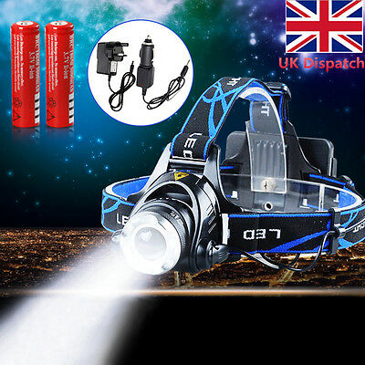 6000LM Zoomable CREE XML T6 LED Rechargeable Head Torch Headlamp Headlight HOT