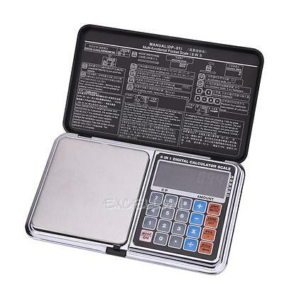 6 in1 Pocket DP-01 High Precision Digital Calculator Scale W/ Clock 500g x 0.01g