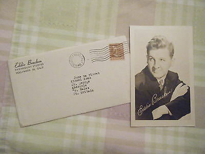 An Envelope & Photo From Eddie Bracken At Paramount Studios To North Wales 1946