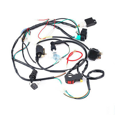 full electrics wiring harness cdi coil solenoid cc atv quad full electric kick start wiring harness coil cdi for 50 to 110cc atv quad bike