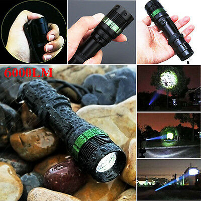 Waterproof 6000 LM Zoomable CREE XM-L Q5 LED Flashlight Torch Zoom Lamp Light TL