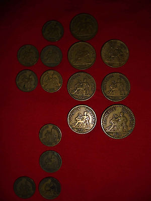 ★ LOT 16 PIECES COMMERCE INDUSTRIE ★ FRANCE 1921-1927 ★ 2 francs 1 fr 50centimes