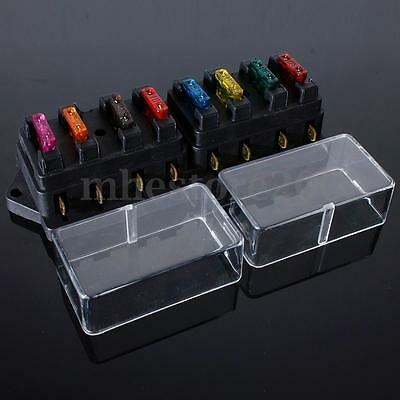 12V 24V 8 Way Car Truck Boat Circuit Ato Standard Blade Fuse Build In Box Holder