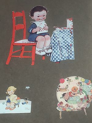 early 1900s scrap book - mabel lucie attwell - cars - ships - fashions - adverts