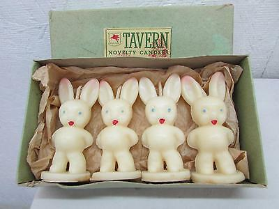 Vintage Tavern Novelty Candles Small Easter Bunnies 4 IOB Bunny Rabbit