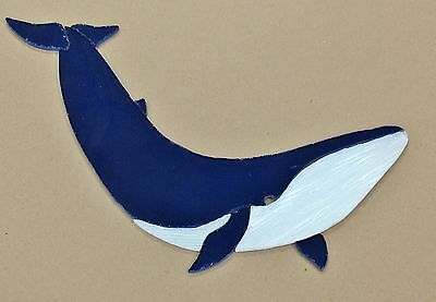 """PRECUT STAINED GLASS ART KIT BLUE WHALE 11"""" x 7"""""""