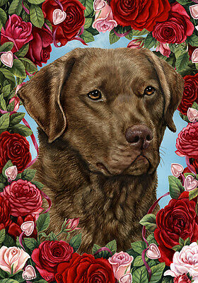 Large Indoor/Outdoor Roses Flag - Chesapeake Bay Retriever 19070