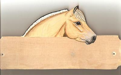 Fjord horse/pony stable/stall/barn name plate/plaque/sign personalised gift