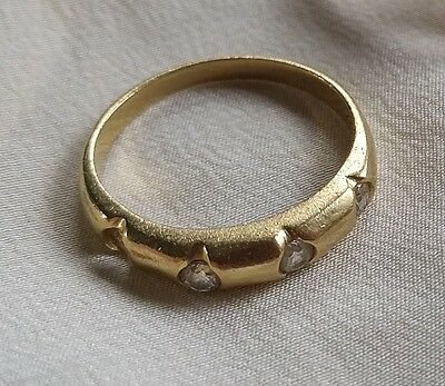 14K Yellow Gold BAND RING replace stones or scrap 2.4gms