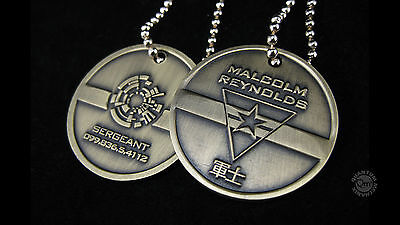 Firefly- Serenity Malcolm Reynolds Dog Tags Replica Metall (2)