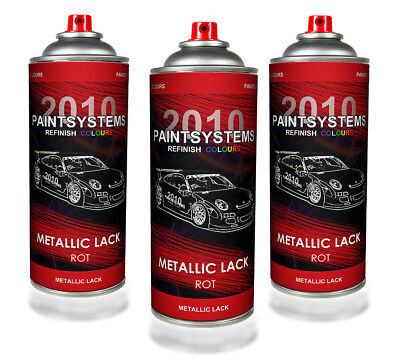 (€10,75/L) Autolack Lackspray 3x 400 ml - rot metallic