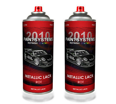 (€11,24/L) Autolack Lackspray 2x 400 ml - rot metallic