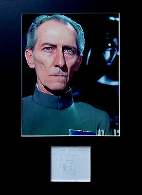 PETER CUSHING signed autograph PHOTO DISPLAY STAR WARS Grand Moff Tarkin