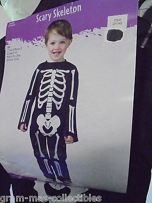 Costume Toddlers Scary Skeleton Large 3T-4T New