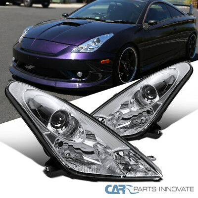 For 00-05 Toyota Celica Clear Projector Headlights Lamps Replacement Left+Right