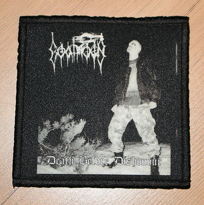 "GOATMOON ""DEATH BEFORE DISHONOUR"" silk screen PATCH"