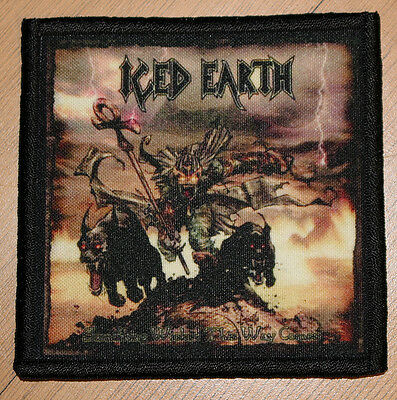 """ICED EARTH """"SOMETHING WICKED THIS WAY COMES"""" silk screen PATCH"""